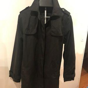 Women's Black GAP Trench Coat